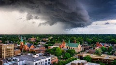 Elgin Summer Storm ⛈ (abso847) Tags: stormcloud clouds weather epic colorful cityscape summer storm illinois elgin