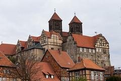 Stiftskirche in Quedlinburg (mkirstefoto) Tags: altstadt deutschland europa fachwerkhaus quedlinburg sachsenanhalt schlossberg stiftskirchestservatius