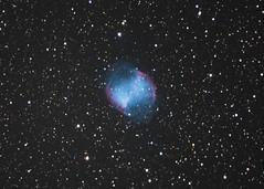 M27 Dumbbell Nebula (Phil Ostroff) Tags: m27 dumbbell nebula planetary astronomy astrophysics celestron c8 cgem nikon d750 astrometrydotnet:id=nova3689688 astrometrydotnet:status=solved