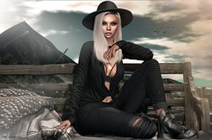 """""""Earth, sea, air; freedom! """" (Any Moonwall) Tags: addams letre doux hairstyle dubai event remezzo boots secondlife sl online love blog avatar female woman girl fashion style bloggers pose sim"""