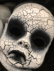 Play Dead (drei88) Tags: halloween children death twilight energy doll darkness reaching grim spirit memories atmosphere dreary eerie haunted faded edge soul vacant imagination stark distress drab forlorn witness searching ghoulish losttoys dollhead
