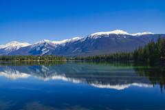 Shadows and Reflections (Bernie Emmons) Tags: jaspernationalpark lake shadows reflection bluesky blue alberta