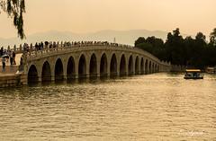 Bridge (E. Aguedo) Tags: bridge sunset sky lake kunming summer palace beijing china asia architecture chineseculture outdoors water history travel old ngc