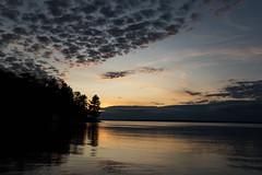 Goulais Bay Sunset D75_0132 (iloleo) Tags: sunset nature lakesuperior clouds scenic landscape silhouette ontario nikon d750