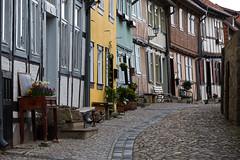 Gasse in Quedlinburg (mkirstefoto) Tags: deutschland europa fachwerkhaus gasse kopfsteinpflaster quedlinburg sachsenanhalt