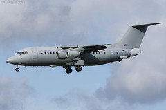 Royal Air Force, BAE146-200QC, ZE707. (M. Leith Photography) Tags: royal air force raf flying jet brize norton oxfordshire nikon d7200 mark leith photography 70200vrii nikkor 200500mm aviation military england northolt bae 146 ze707