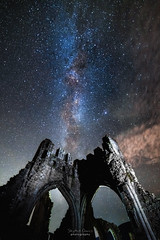 The Milkyway above Llanthony Priory
