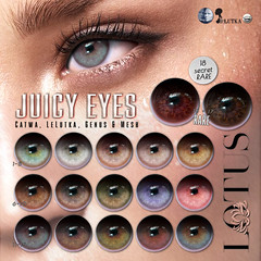 Juicy Eyes @ Gacha Garden (LOTUS. & Ugly Duckling) Tags: sl second life gacha gatcha play game cheap free eye eyes lotus applier catwa lelutka genus mesh apply face looks beauty new fresh beautiful realistic equal10 equal 10 unrigged hud huds event buy garden executives men male premier style strong cool hip