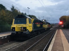 Freightliner Class 70 (70015) - Holytown (saulokanerailwayphotography) Tags: class70 freightliner 70015