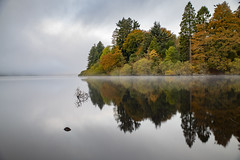 Llyn Efyrnwy (Lake Vyrnwy), Powys, Wales (Frightened Tree) Tags: lake vyrnwy powys oswestry llanwddyn landscape dam reservoir wales mid water llyn liverpool autumn fall colours colors reflection