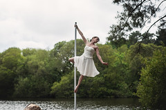 (dimitryroulland) Tags: nikon d750 85mm 18 dimitryroulland vannes nature natural light green poledance poledancer pole dance dancer performer art artist white dress