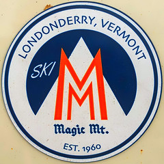 Ski Magic Mountain (Timothy Valentine) Tags: squaredcircle sticker 1019 vacation 2019 automobile berkshires northadams massachusetts unitedstatesofamerica
