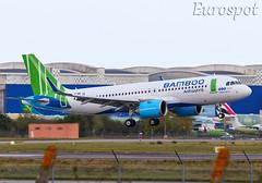 F-WWIU Airbus A320 Neo Bamboo Airways (@Eurospot) Tags: vna596 fwwiu airbus a320 neo 9306 toulouse blagnac bambooairways
