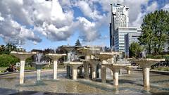 Fountain in Gdynia (rainerpetersen657) Tags: gdynia gdingen polska poland polen baltic springbrunnen town sony sonyalpha travel