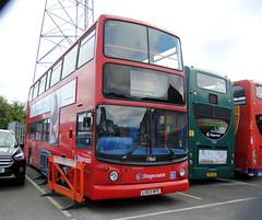 17860 - Manchester (Hesterjenna Photography) Tags: lx03nfe bus psv coach dennis trident alx400 alltypesoftransport alexander alexanderdennis stagecoachlondon londonbus stagecoach manchester busdepot depot