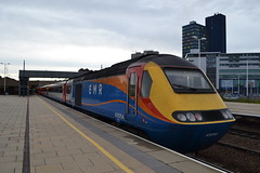 East Midlands Railway HST 43054 (Will Swain) Tags: leicester station 22nd september 2019 train trains rail railway railways transport travel uk britain vehicle vehicles england english europe transportation class emt east midlands hst 43054 54