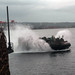 A landing craft, air cushion departs USS Germantown to conduct backload following exercise KAMANDAG 3