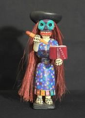 Blue Eyed Skeleton Oaxaca Wood Carving (Teyacapan) Tags: jesussosa woodcarvings oaxacan mexican calaca skeleton woman diademuertos