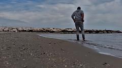 Beach (marcostetter) Tags: barefoot feet jeans beach fashion