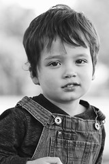 Rhoads (Andy Ziegler) Tags: boy outdoors portrait cute fun toddler overalls hair eyes autumn fall canon6d tamron70200mm blackandwhite monochrome