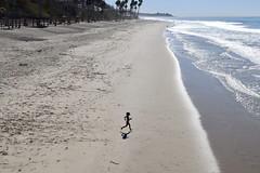 Lighter than Air (Bennilover) Tags: child beach ocean sanclemente october hot sunny beaches california girl airborne shadow