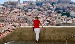 Dubrovnik's Old City (daj333) Tags: dubrovnik croatia oldcity blonde girl tourist citywalls panasonic lumix lx100