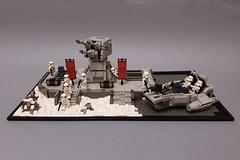 Outpost on Starkiller Base_1 (Edge of Bricks) Tags: lego moc star wars first order starkiller base outpost stormtrooper snowspeeder force awakens last jedi skywalker rise