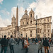 Crowded Piazza Navona, Rome - Italy