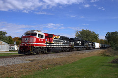 NS 911 North (BSTPWRAIL) Tags: ns norfolk southern railroad railway rail road way d49 local manifest mixed freight train illinois honoring first responders sd60e sd402 locomotives locomotive congerville
