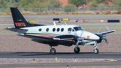Beech C90 King Air N36TG (ChrisK48) Tags: kdvt kingair airplane n36tg 1996 phoenixaz beechc90 dvt aircraft phoenixdeervalleyairport