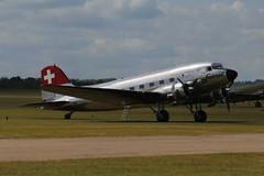 Photo of 2019-06-03; 0005. Douglas C-47A-45DL (1943), Swissair, N431HM. Daks over Normandy, Duxford.