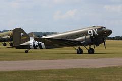 Photo of 2019-06-03; 0003. Douglas C-47-DL Skytrain (1941), 315087, 101st Airborne tribute (Ni150D), 9X. Daks over Normandy, Duxford.