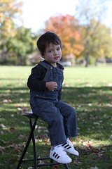Rhoads (Andy Ziegler) Tags: boy outdoors portrait cute fun toddler overalls hair eyes autumn fall canon6d tamron70200mm shoes denim adidas shade