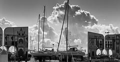 jlvill  237  Ausencia de color # 11  Nubes de algodon (jlvill) Tags: nubes barcos yates puertos nautica blancos negros monocolor bw 1001nightsthenew