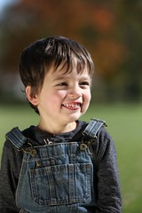 Rhoads (Andy Ziegler) Tags: boy outdoors portrait cute fun toddler overalls hair eyes autumn fall canon6d tamron70200mm smile sunlight reflector denim