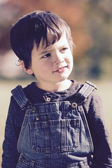 Rhoads (Andy Ziegler) Tags: boy outdoors portrait cute fun toddler overalls hair eyes autumn fall canon6d tamron70200mm filter denim