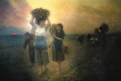 The Last Gleanings 1895 (Christina's World :) Tags: 2456 art museum european french realism painting oilpainting oldmasters women fields myinterpretation sunset girl workers landscape scenic sky kurtpeiser europe