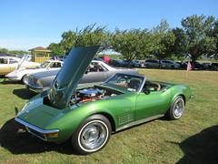 Green 1972 Corvette Convertible (smaginnis11565) Tags: chevrolet chevroletcorvette mark3corvette convertible carshow haverstraw newyork rocklandcounty 2019