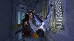 Naughty Witch (antoniohunter55) Tags: signature gianni maitreya bento catwa no matchhair firestorm pixl poses halloween couple pose cebo backdrop halloweencorridor witch hat broom
