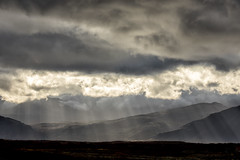 Sunshine downpour, Iceland (mpmark) Tags: iceland landscapephotography landscape getoutthere icelandlandscape beautifullight beautiful sunsetlight sunrays rays raysoflight atmosphere canon100400ii canon5dmkiv mountains loveiceland