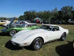 White 1975 Corvette (smaginnis11565) Tags: chevrolet chevroletcorvette mark3corvette convertible carshow haverstraw newyork rocklandcounty 2019