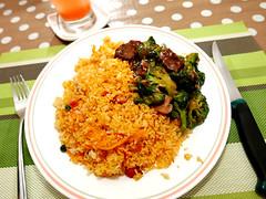 today's lunch (DOLCEVITALUX) Tags: broccolistirfry yangzhoufriedrice chinesefriedrice meal food lunch lumixlx100 panasoniclumixlx100 panasoniccameras