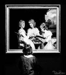 In the gallery... (Thodoris Rammos) Tags: woman gallery black white blackandwhite monochrome dark picture painting bw