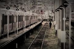 walking worker (Sat Sue) Tags: olympus micro four thirds m43 penf japan fukuoka railway railroad takeshita station
