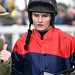 Miss Alice Stevens, Winning rider of Don Juan de Gouet in the Racing TV Profits returned To Racing Amateurs Hurdle at Exeter Racecourse