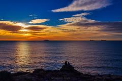 """Tramonto """"Cala dei Pirati"""" - Sunset """"Cala dei Pirati"""" (Eugenio GV Costa) Tags: approvato tramonto acqua mare scogli sunset cielo sky sea water rocks"""