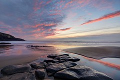 Happy Endings (pauldunn52) Tags: beach southerndown glamorgan heritage coast wales dunraven witches point sunset reflections