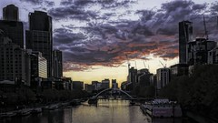 Sunset Over the Yarra (Mr.LeeCP) Tags: sunset yarrariver buildings clouds river reflections melbourne australia