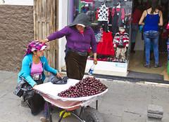 Hi, Honey (klauslang99) Tags: klauslang streetphotography women people fruit seller cuenca ecuador