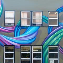 festooned facade I (msdonnalee) Tags: windows fenster finestra fenêtre ventana janela muraldetail